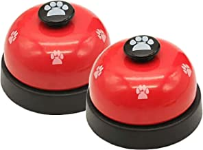 Malier 2 Pack Dog Training Bells, Dog Door Bells, Dog Puppy Pet Bells for Potty Training and Communication Device