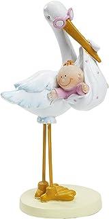 Hobbyfun Storch mit Baby Girl ca. 11 cm Tortendeko Tischdeko