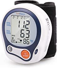 "LotFancy Wrist Blood Pressure Monitor Cuff, Digital Blood Pressure Cuff (5""-8""), 60 Reading Memory, Digital Sphygmomanometer for Irregular Heartbeat Detection, Portable Case Included"