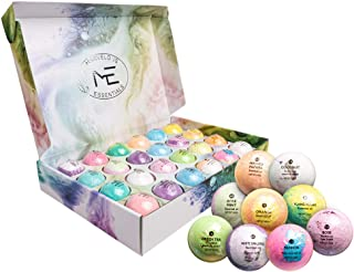 Marvelous Essentials Bath Bomb Gift Set for Women   24 Aromatherapy BathBombs Crafted from Pure Essential Oils   Fizzy Spa Relaxing Bubble Bath Bombs Make a Great Gift Idea for Women & Kids