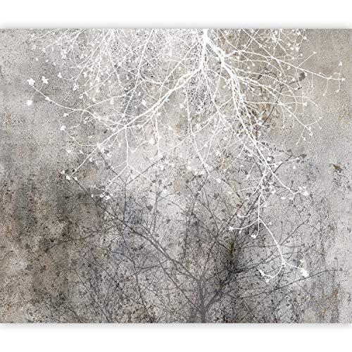 murando Carta da parati Astratto 350x256 cm Fotomurali in TNT Murale alla moda Decorazione da Muro XXL Poster Gigante Design Carta per pareti Alberi Natura bianco grigio b-C-0826-a-a
