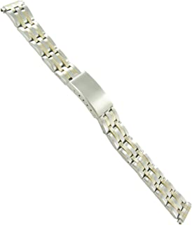 12-16mm Milano Two Tone Stainless Deployment Buckle Watch Band Ladies 3861-92