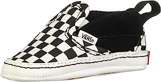 Infant Checker Slip-On Black/True White Crib Shoes