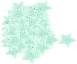 Generic PVC Star Shaped, Home Room Decor Glow in the Dark, Wall Sticker Decal 3cm x 3cm 100 Pcs Light Blue