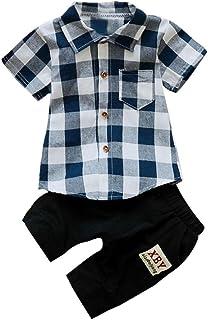 Fossen 2 Piezas/Conjunto Ropa Verano Bebé Niños Camiseta