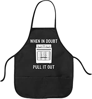 Cookout Apron When In Doubt Pull It Out Funny Baking BBQ Smock