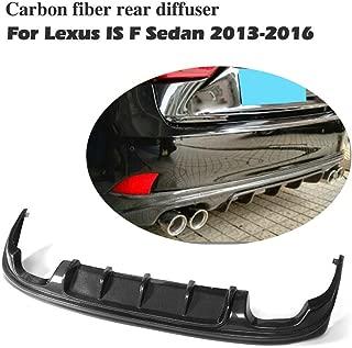JC SPORTLINE Rear Bumper Lip Diffuser fits Lexus IS200t IS300 IS350 IS250 & is F Sport 2013-2017 (Carbon Fiber)