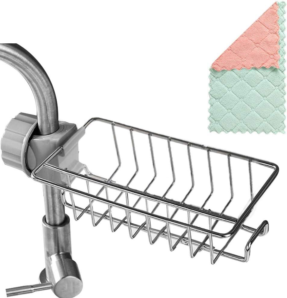 Sponge Holder Sink Caddy Faucet Kitchen Organizer trust Hanging Large discharge sale