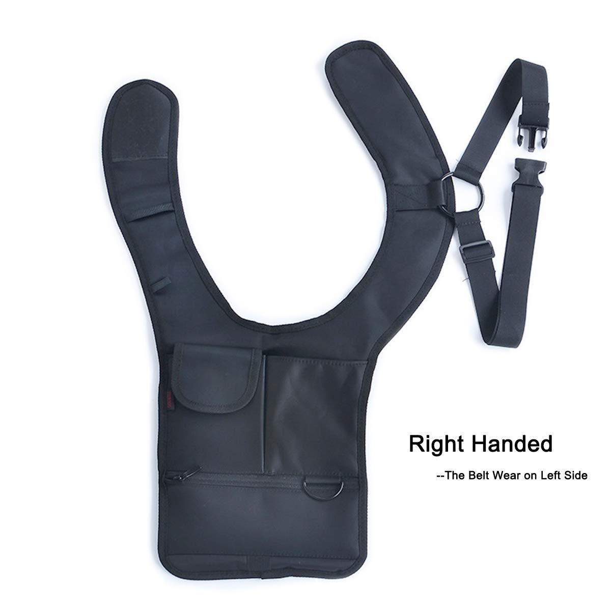 ZAIXU 右手尼龙*多功能隐形腋下单肩包隐藏包(皮带在左侧佩戴)