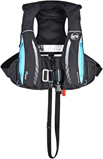 Ocean Safety Kru Sport Pro 170N ADV Automatic Lifejacket with Harness, Hood & Light Carbon Sky Blue