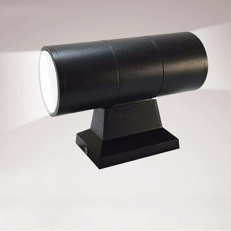MTGYF Outdoor led Wandleuchte einfache kreative Moderne Wasserdichte Wandleuchte Aluminium (Spannung 85-265V) auf und ab doppelte Halterung licht 16  6.5CM warmes licht 3000K