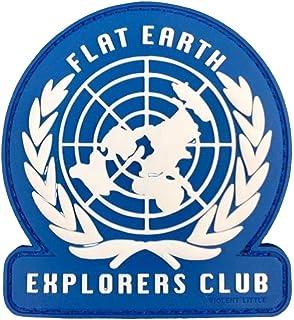 """Violent Little Machine Shop -""""Flat Earth Explorers Club"""" PVC Morale Patch"""