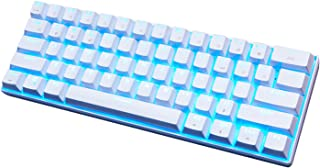RK61 60% Mechanical Gaming Keyboard, Bluetooth Mechanical Keyboard with 10 Hours Battery Life, LED Rainbow Backlit Gaming ...