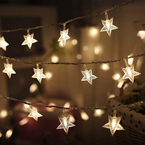 2021 Twinkle Star 100 LED Star String Lights, Plug in Fairy String Lights Waterproof, online Extendable for Indoor, Outdoor, Wedding Party, Christmas Tree, New Year, outlet online sale Garden Decoration, Warm White outlet online sale