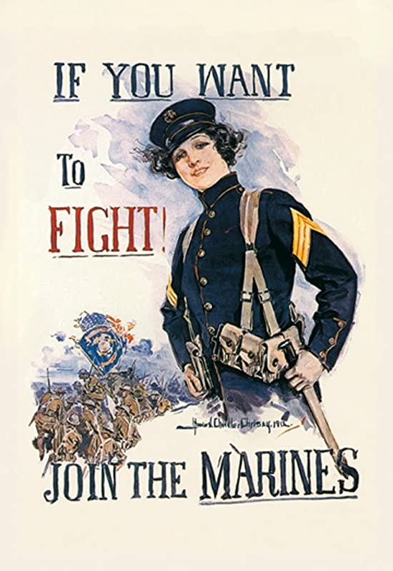 Buyenlarge If You Want To Fight Join The Marines By Howard Chandler Christy Wall Decal 24 H X 16 W