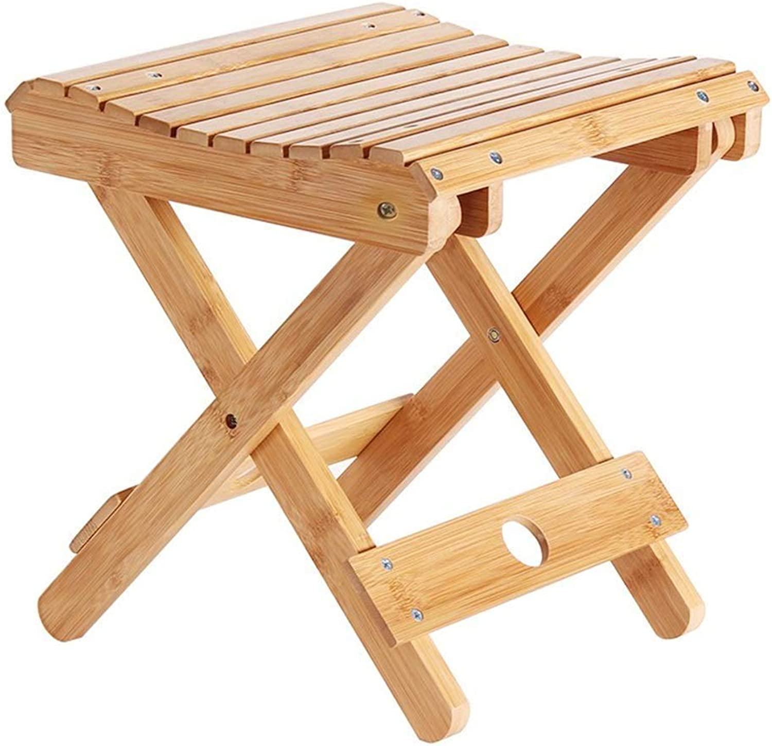 Footstool, Solid Wood Folding Stool Portable Home Mazar Chair Bench Square Stool