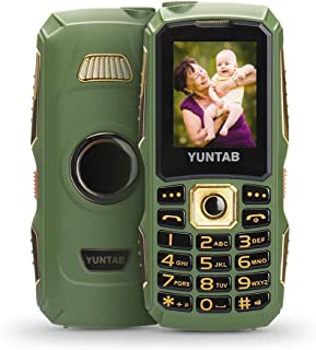 YUNTAB Unlocked 2G Cell Phone for Seniors and Kids, Easy to Use, Large Button and Volume and Fonts, Long-time Standby, with Dual Sim Card Slot, LED Flashlight, 1.77 inch Anti-Fall