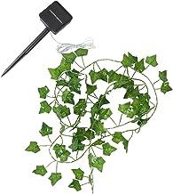 FRCOLOR Artificial Green Leaf Garland String Lights 5m 50 LEDs Fake Greenery Decor LED Solar String Light for Home Wedding...
