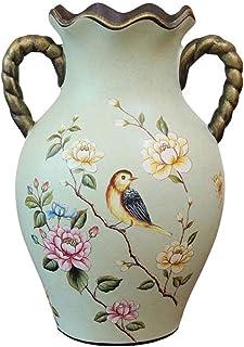Vase Vases Céramique Plantes Vase De Décoration De Table Américain, Artisanat D'ameublement De Porche Rétro, Vase en Céram...