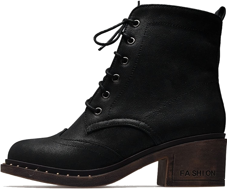 DoraTasia Lace up Women's Ankle Chelsea Boots