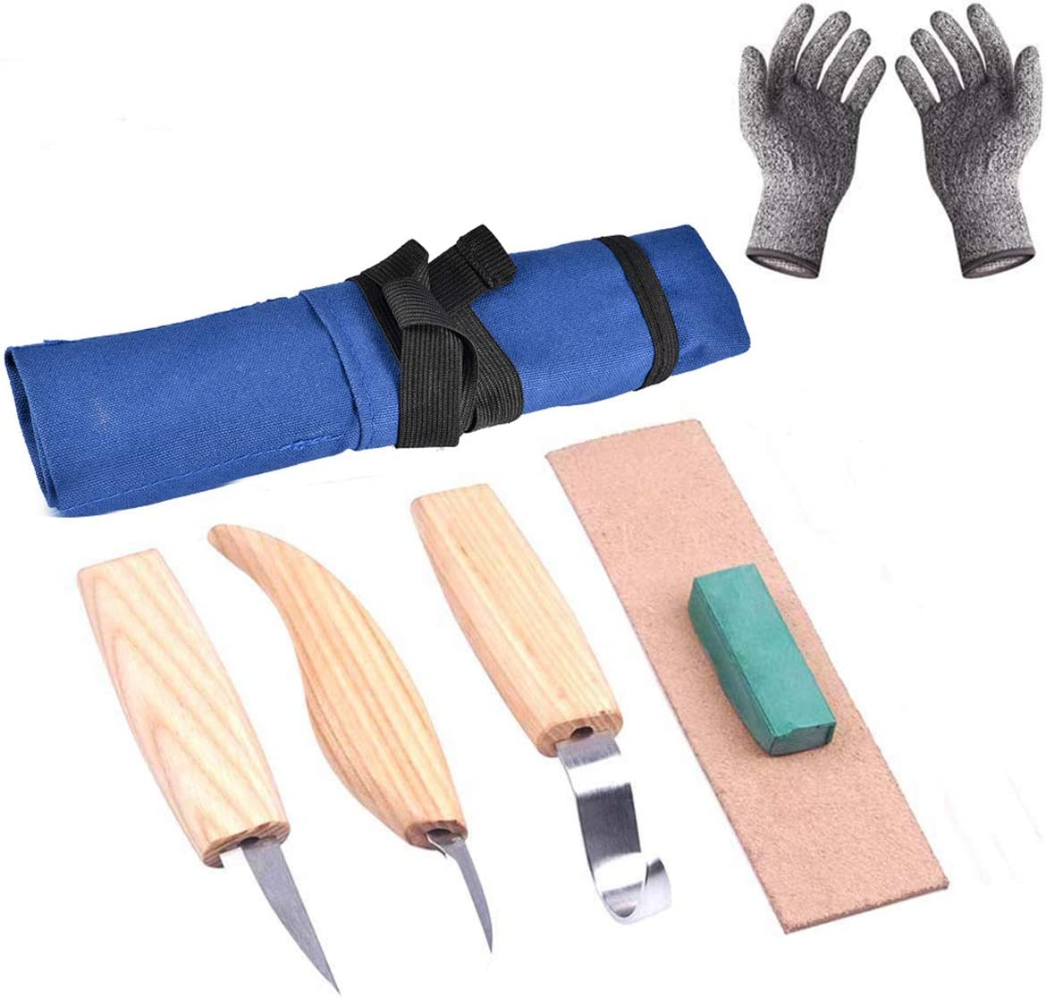 tabpole Ranking TOP17 Max 61% OFF 6 in 1 Woodcarving Tool Hook Knife Paring Shar Set