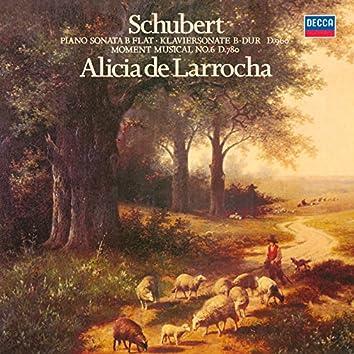 Schubert: Piano Sonata No. 21; Moment Musical No. 6