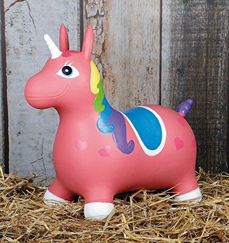 Harrys horse Nooni Skippy Unicorn Hüpfpferd Einhorn rosa