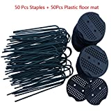 F.O.T Garden Staples, Landscape Pins with Plastic Coated, Garden Stakes 6 inch 11-gauge Rust Resistant