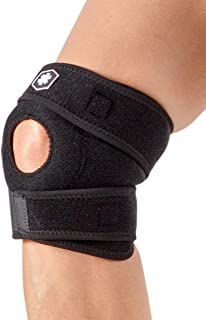 Short Knee Brace with Open Patella Helps Provide Knee Pain Relief, Knee Support, and Compression for Aching Knees or Knee Arthritis Symptoms by ICEWRAPS Fitness IWF725
