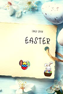 Easter Lined Book: Arctic Blue Color 6x9