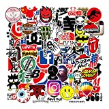 100 Pieces Vinyl Waterproof Stickers,Street Fashion Sticker Decals, Laptop Vinyl Stickers for for Car, Laptop, Luggage, Skateboard, Motorcycle, Bicycle Decal