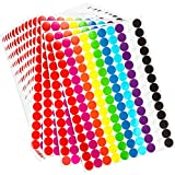2800 Pieces Round Dot Stickers 3/4 Inch Diameter Circle Dot Labels (Multicolor)