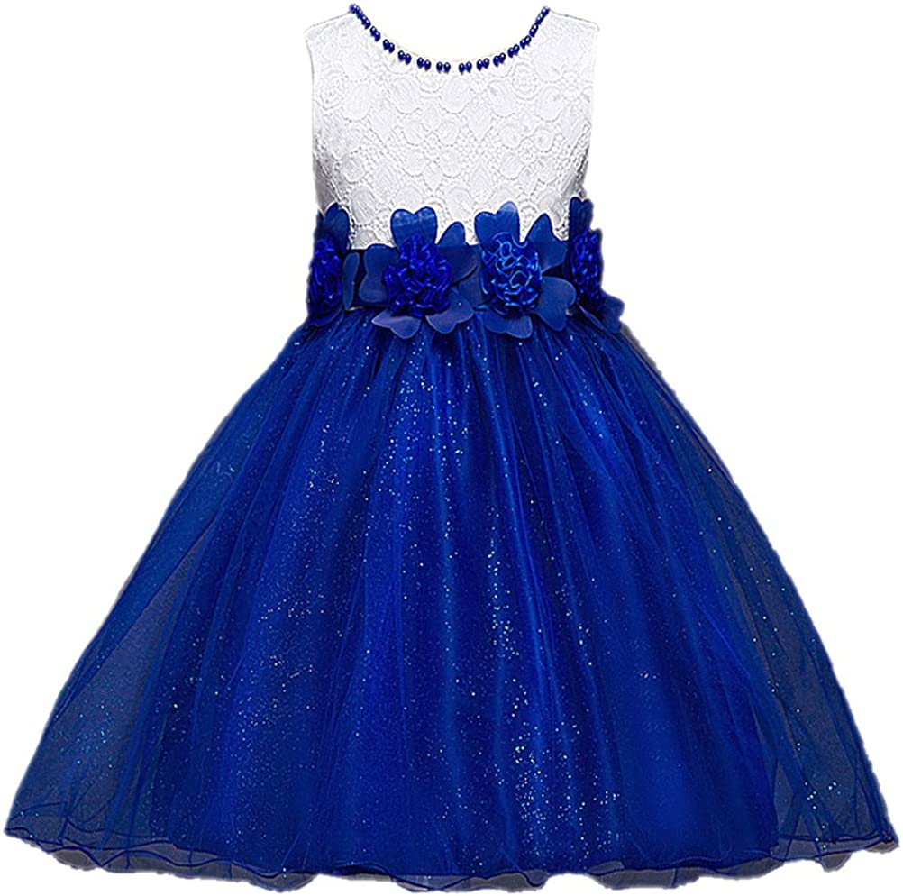 Horcute Pageant Tulle Floral Waist Sash Special Occasion Flower Girl Dress
