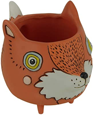 Allen Designs DB1971 Baby Fox Planter 3.25 Inches x 3 Inches