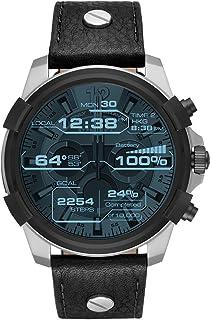 Diesel Men's Digital Watch smart Display and Leather Strap DZT2001