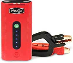 WEEGO 44.1 Jump Starting Power Pack (NEW 2019 Model) 2100 Peak 440 Cranking Amps High Performance Lithium Ion Jump Starter Quick Charges Phones 500 Lumen LED Flashlight Water Resistant