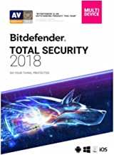 Bitdefender Total Security 2018   5 Devices, 1 Year New in Retail Box