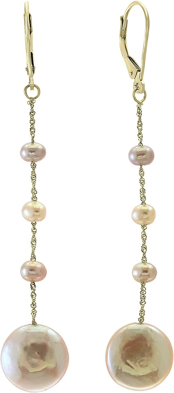 Effy 14K Rose Gold Fresh Water Pearl Earrings IEY0P344J2