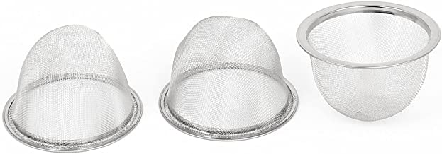 uxcell Metal Mesh Basket Tea Leaves Strainer Teapot Filter 76mm Dia 3pcs