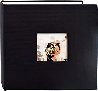 Golden State Art, Wedding Family Baby Holiday Photo Album Christmas, Vacation, Anniversary Photography Book for 200 4x6 Pictures Pockets with Memo, 2 Per Page Large Capacity Embossed Cover(Black)