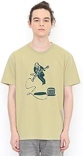 (グラニフ) graniph コラボレーション Tシャツ オジサンロック (ミョーコー) (サンドグリーン) メンズ レディース (g100) (g107)