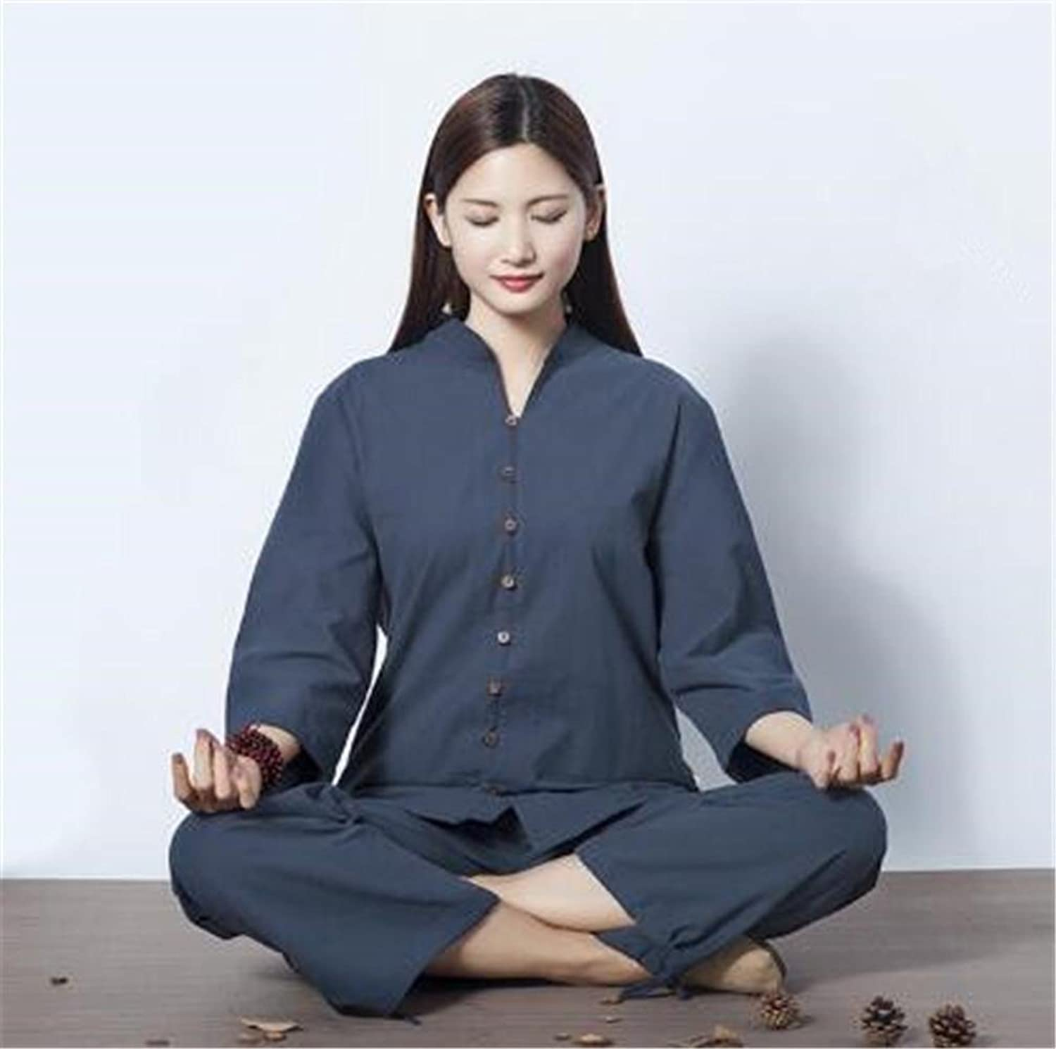 Natural cotton and linen comfortable yoga practice clothing suit outdoor sportwear