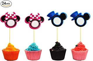 Cute Mickey Minnie Mouse Cupcake Toppers Party Pack for 24 Cupcakes