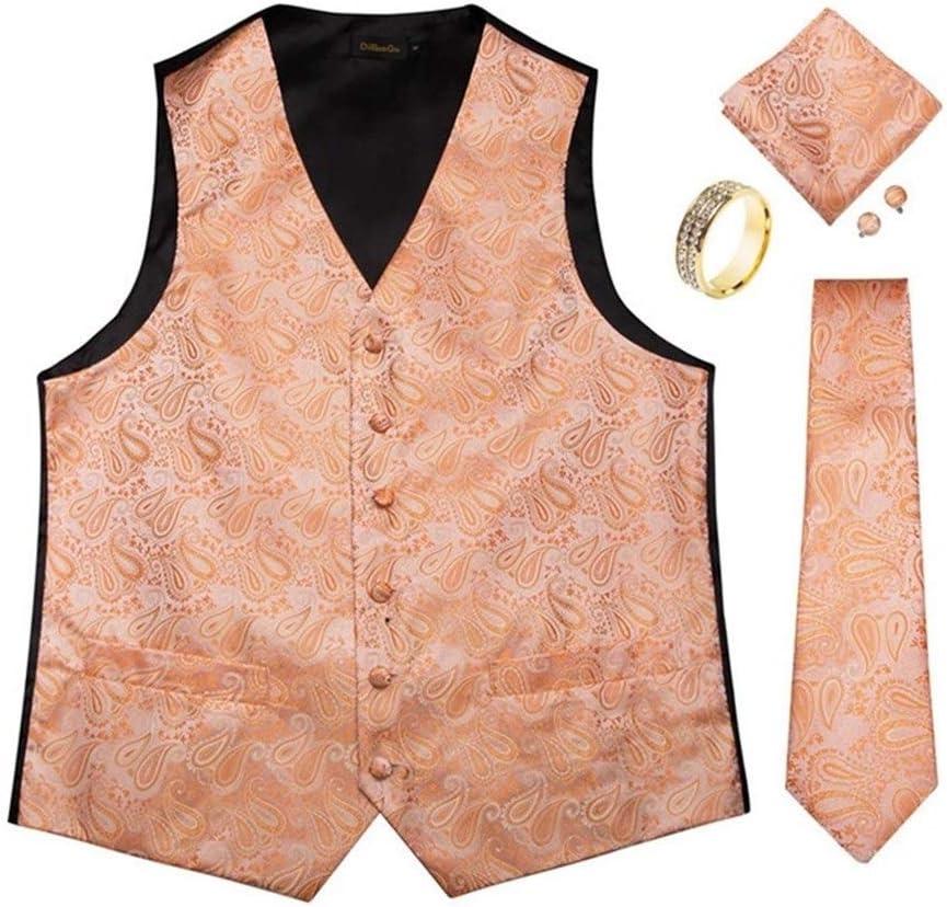 QWERBAM Men Vest Tie List price Set Wedding Formal Tuxedo Denver Mall M Suit Dress
