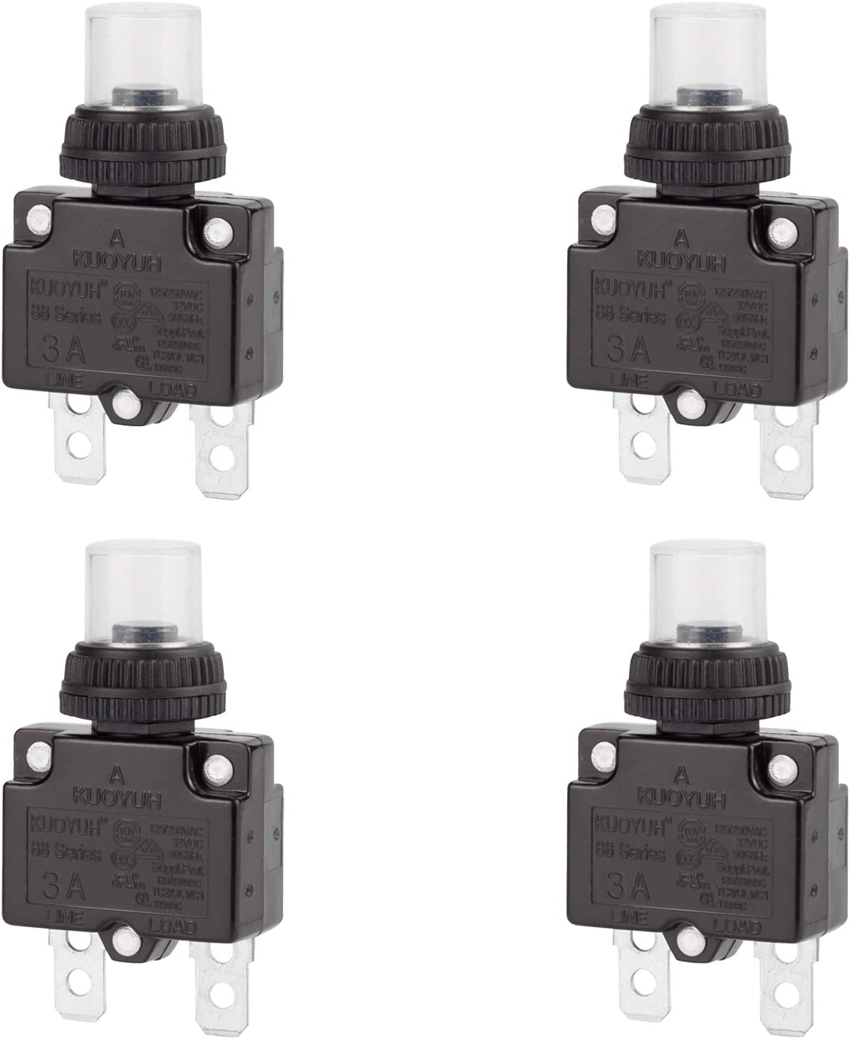 DIYhz 3Amp Circuit Breakers Thermal 88 Max 54% OFF Protector Overload Switch New color