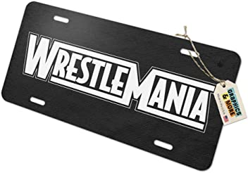 WWE Seth Rollins and Logo Novelty Metal Vanity Tag License Plate
