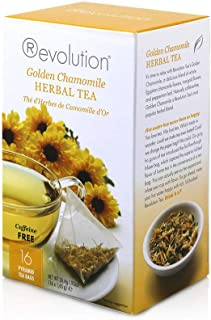 Revolution Tea - Golden Chamomile Herbal Tea | Premium Full Leaf Infuser Stringless Teabags - Immunity Boost (16 Bags Each...