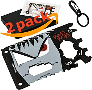 Set of 2 - BadBoy 23 in 1 Wallet Multitool Card - Best Halloween & Christmas Gift for Men