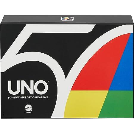 UNO 50 Aniversario Juego de Mesa Familiar de 2 a 10 jugadores
