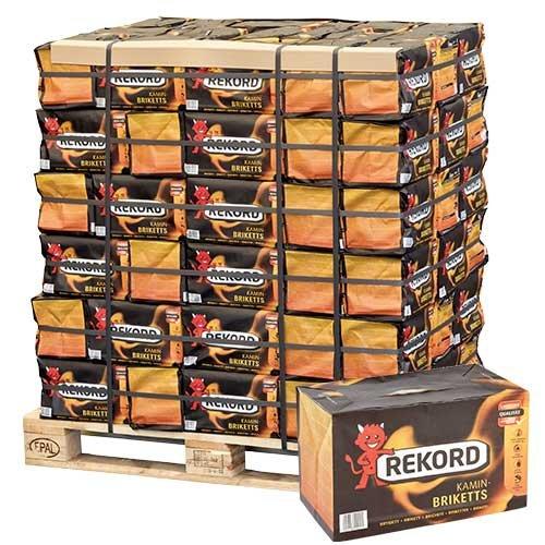 Braunkohle Briketts Kohle Heiz Brikett Kamin Ofen Bündel 10kg x 90 Gebinde 900kg / 1 Palette Rekord